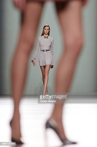 Models walk the runway at the Maria Escote show during Madrid Fashion Week Fall/Winter 2015/16 at Ifema on February 10 2015 in Madrid Spain