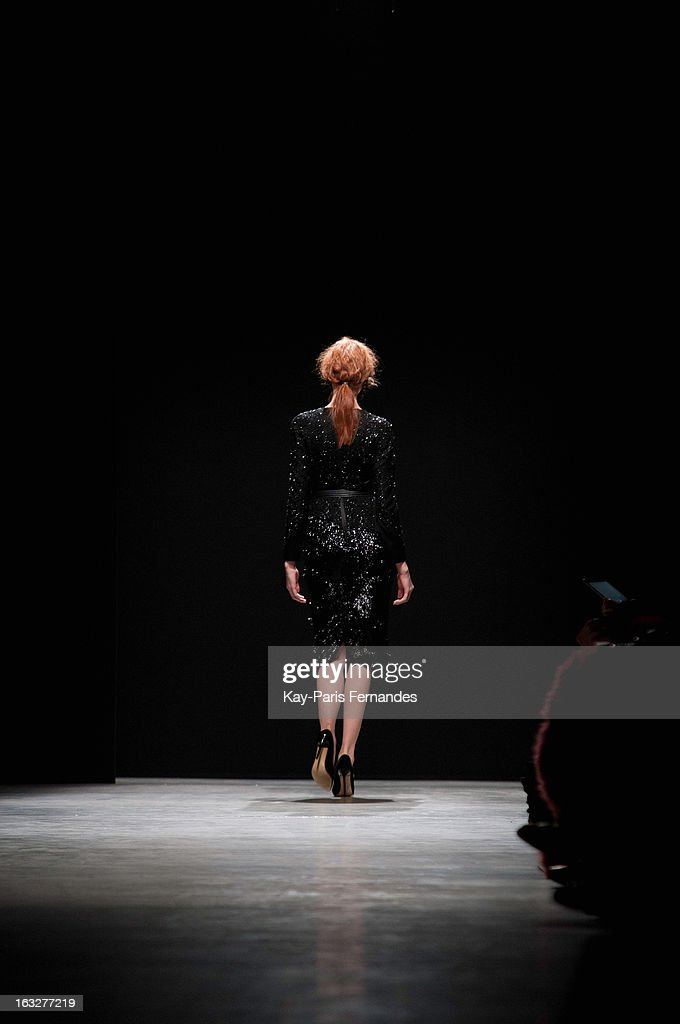 Models walk the runway at the Mashama Fall/Winter 2013 Ready-to-Wear show as part of Paris Fashion Week on March 6, 2013 in Paris, France.