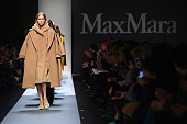 Models walk the runway at the Max Mara fashion show during Milan Fashion Week Womenswear Fall/Winter 2013/14 on February 21 2013 in Milan Italy