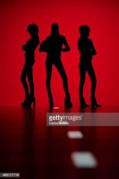 Models walk the runway at the Maya Hansen show during Madrid Fashion Week Fall/Winter 2015/16 at Ifema on February 10 2015 in Madrid Spain