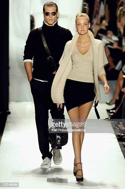 Models walk the runway at the Michael Kors Spring 2007 Fashion show during Olympus Fashion Week in the Tent in Bryant Park September 13 2006 in New...