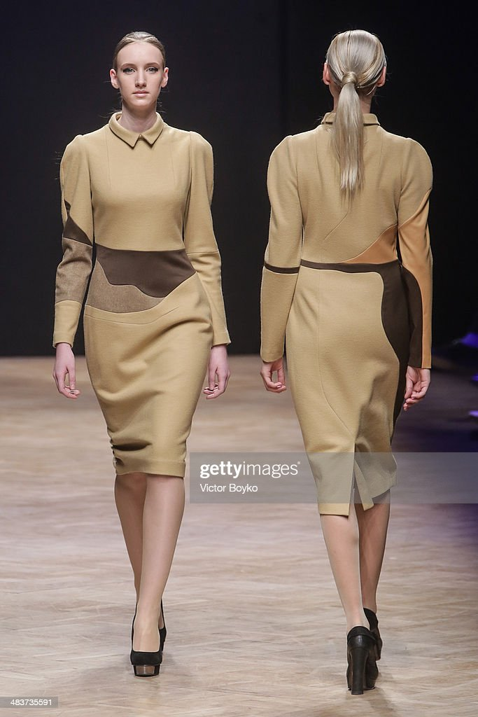 Models walk the runway at the Milla Berillo show during day 1 of Aurora Fashion Week Russia AW14 on April 9, 2014 in Saint Petersburg, Russia.