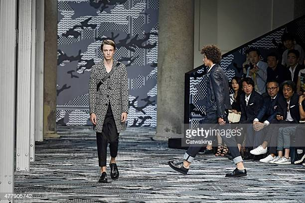 Models walk the runway at the Neil Barrett Spring Summer 2016 fashion show during Milan Menswear Fashion Week on June 20 2015 in Milan Italy