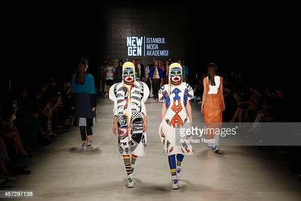 Models walk the runway at the New Gen II show during Mercedes Benz Fashion Week Istanbul SS15 at Antrepo 3 on October 16 2014 in Istanbul Turkey