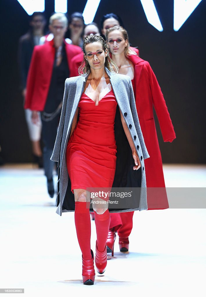 Models walk the runway at the Nian By Nihan Buruk show during Mercedes-Benz Fashion Week Istanbul Fall/Winter 2013/14 at Antrepo 3 on March 12, 2013 in Istanbul, Turkey.