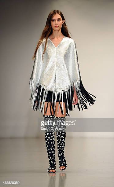 Models walk the runway at the OSMAN show during London Fashion Week Spring Summer 2015 on September 16 2014 in London England