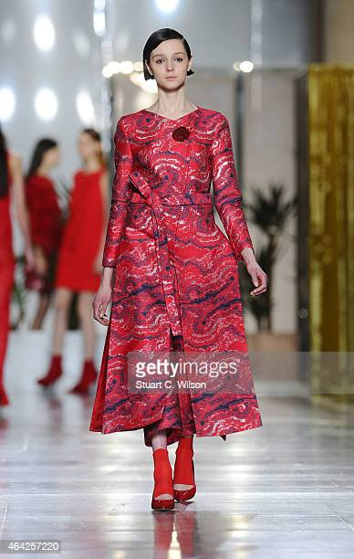 Models walk the runway at the OSMAN show during London Fashion Week Fall/Winter 2015/16 at TopShop Show Space on February 23 2015 in London England