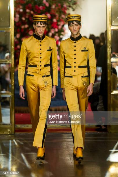 Models walk the runway at the Palomo Spain show during the MercedesBenz Fashion Week Madrid Spring/Summer 2018 on September 14 2017 in Madrid Spain