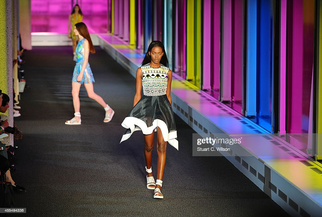 Models walk the runway at the Peter Pilotto show during London Fashion Week Spring Summer 2015 on September 15 2014 in London England