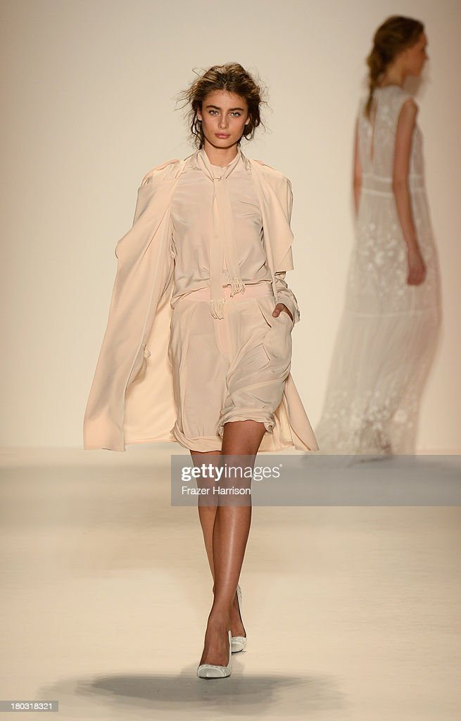 Models walk the runway at the Rachel Zoe fashion show during Mercedes-Benz Fashion Week Spring 2014 at The Studio at Lincoln Center on September 11, 2013 in New York City.
