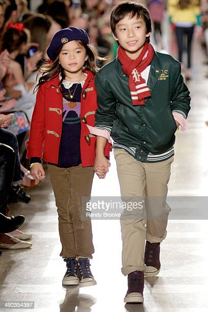 Models walk the runway at the Ralph Lauren Fall 14 Children's Fashion Show in Support of Literacy at New York Public Library on May 19 2014 in New...