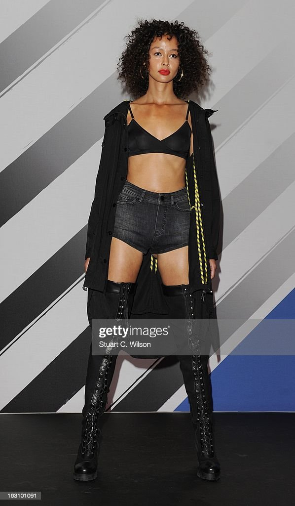 Models walk the runway at the Rihanna for River Island collection during the launched at the Oxford Street River Island store on March 4, 2013 in London, England.