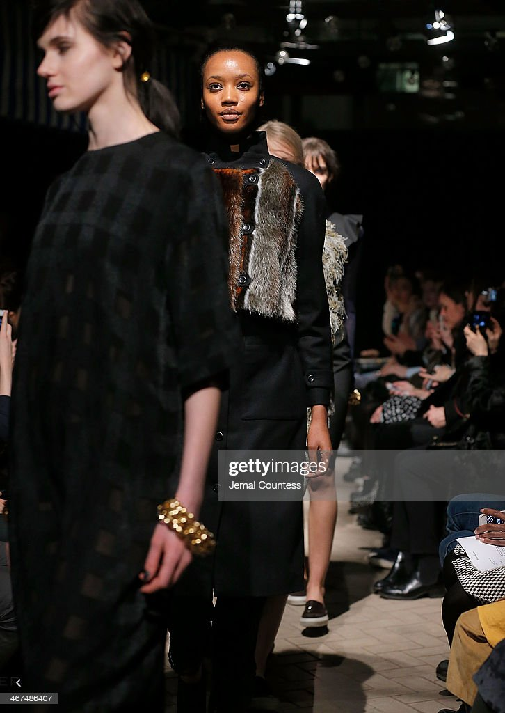 Models walk the runway at the Rodebjer fashion show during Mercedes-Benz Fashion Week Fall 2014 at Maritime Hotel on February 6, 2014 in New York City.