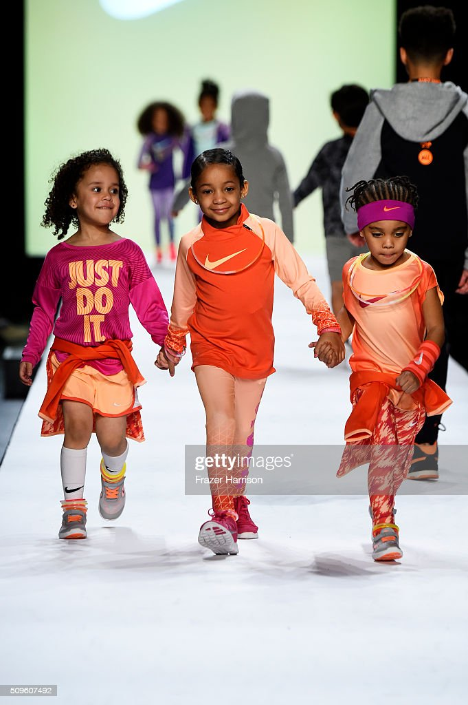 Models walk the runway at the Rookie USA Presents Kids Rock! Fall 2016 fashion show during New York Fashion Week: The Shows at The Dock, Skylight at Moynihan Station on February 11, 2016 in New York City.