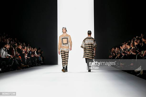 Models walk the runway at the Sadak Show MercedesBenz Fashion Week Berlin Autumn/Winter 2016 on January 19 2016 in Berlin Germany