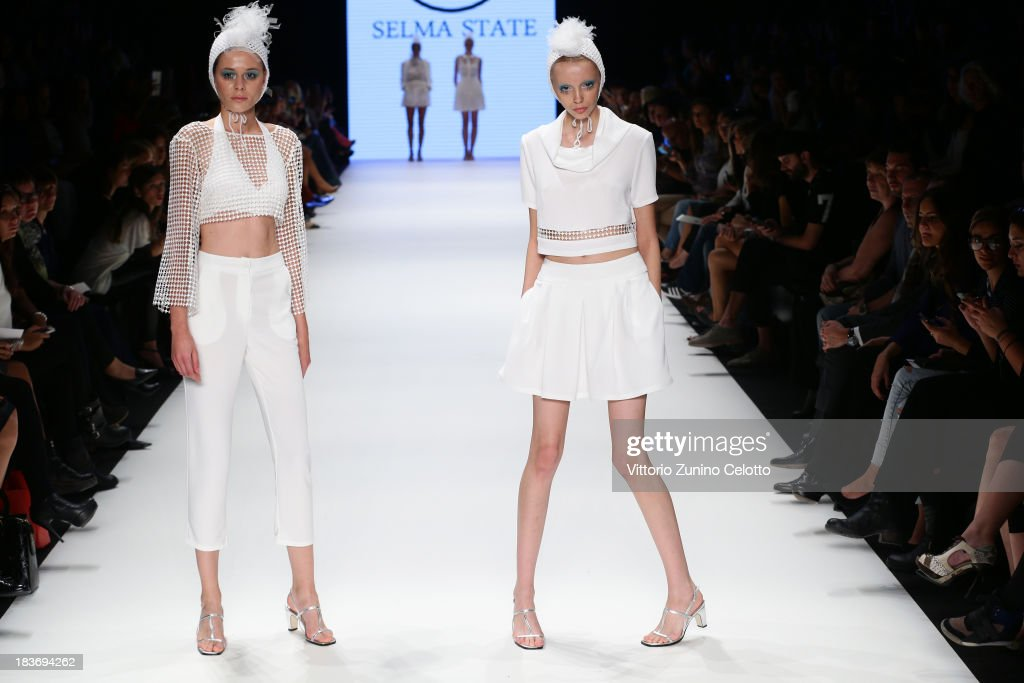 Models walk the runway at the Selma State show during Mercedes-Benz Fashion Week Istanbul s/s 2014 presented by American Express on October 9, 2013 in Istanbul, Turkey.