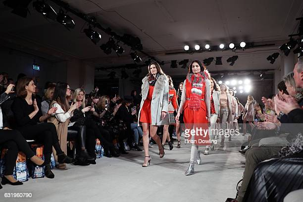 Models walk the runway at the Sportalm show during the MercedesBenz Fashion Week Berlin A/W 2017 at Kaufhaus Jandorf on January 18 2017 in Berlin...