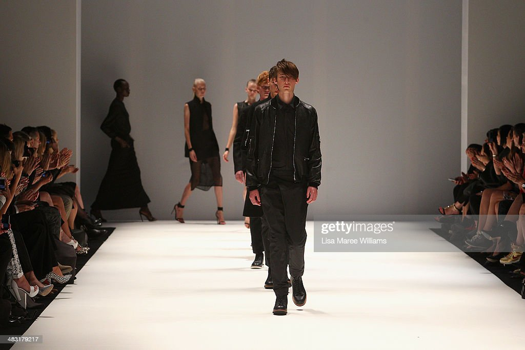 Models walk the runway at the Strateas.Carlucci show during Mercedes-Benz Fashion Week Australia 2014 at Carriageworks on April 7, 2014 in Sydney, Australia.