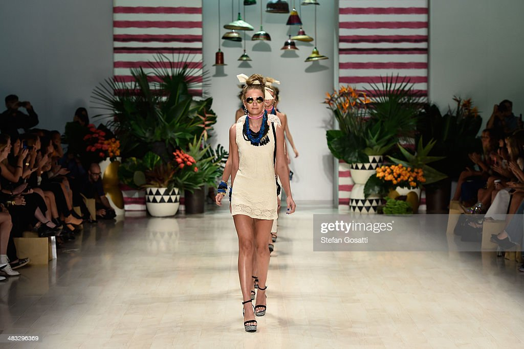 Models walk the runway at the Talulah show during Mercedes-Benz Fashion Week Australia 2014 at Carriageworks on April 8, 2014 in Sydney, Australia.