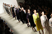 Models walk the runway at the Tome fashion show during Spring 2016 New York Fashion Week The Shows at the Gallery Skylight at Clarkson Sq on...