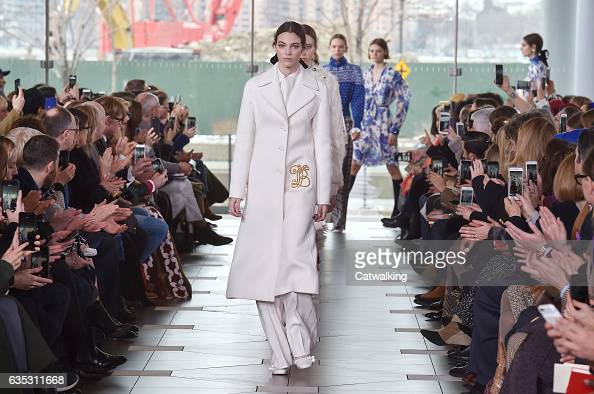Models walk the runway at the Tory Burch Autumn Winter 2017 fashion show during New York Fashion Week on February 14 2017 in New York United States