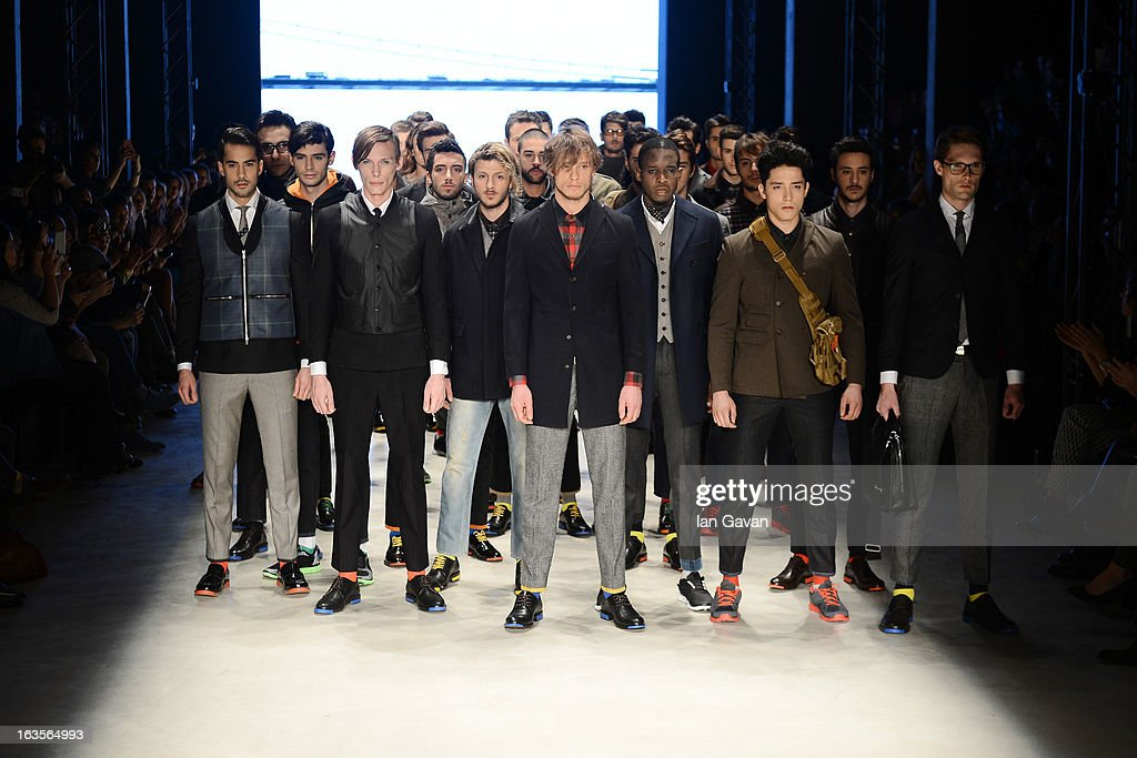 Models walk the runway at the Tween show during Mercedes-Benz Fashion Week Istanbul Fall/Winter 2013/14 at Antrepo 3 on March 12, 2013 in Istanbul, Turkey.