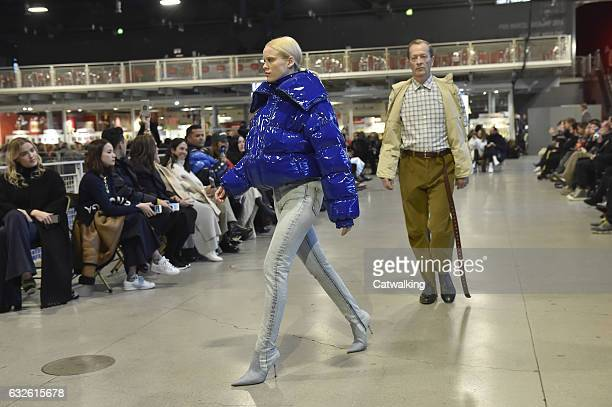 Models walk the runway at the Vetements Spring Summer 2017 fashion show during Paris Haute Couture Fashion Week on January 24 2017 in Paris France
