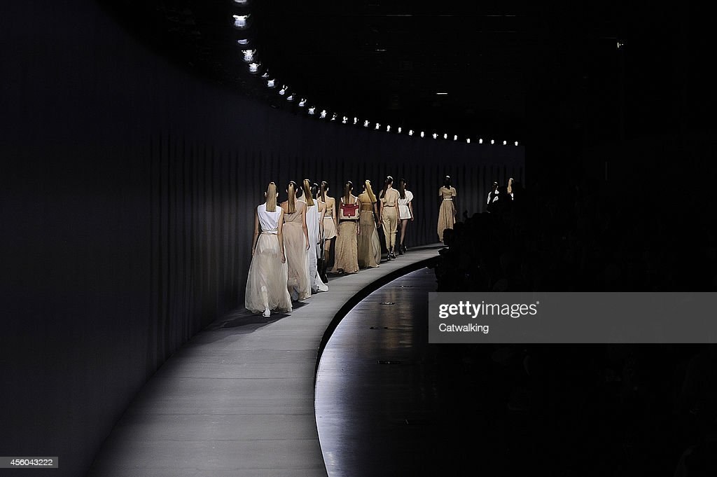 Models walk the runway at the Vionnet Spring Summer 2015 fashion show during Paris Fashion Week on September 24 2014 in Paris France