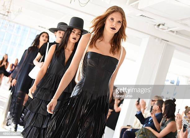 Models walk the runway at the Wendy Nichol show during Spring 2016 New York Fashion Week The Shows at Studio 450 on September 17 2015 in New York City