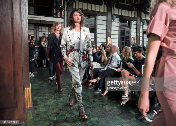 Models walk the runway at the Wolk Morais Collection 5 Fashion Show on May 22 2017 in Los Angeles California