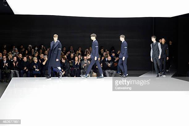 Models walk the runway at the Z Zegna Autumn Winter 2014 fashion show during Milan Menswear Fashion Week on January 14 2014 in Milan Italy