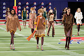 Models walk the runway at Tommy Hilfiger Women's Collection during MercedesBenz Fashion Week Fall 2015 on February 16 2015 in New York City