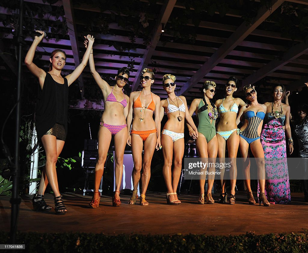 Models walk the runway during a fashion show at the 2011 Maui Film Festival Closing Night Party at Capische on June 19, 2011 in Wailea, Hawaii.