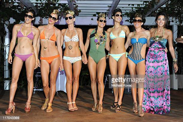 Models walk the runway during a fashion show at the 2011 Maui Film Festival Closing Night Party at Capische on June 19 2011 in Wailea Hawaii