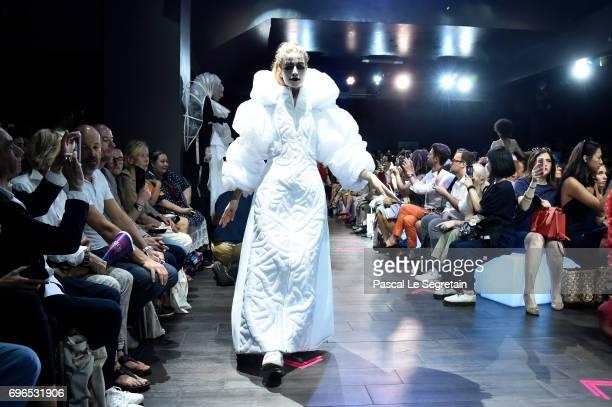 Models walk the runway during Esmod Paris Show 'This Is Us' on June 15 2017 in Paris France