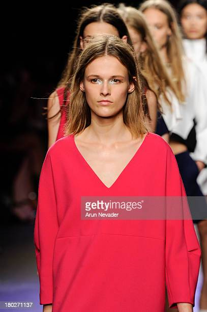 Models walk the runway during ICB by Prabal Gurung during MercedesBenz Fashion Week Spring 2014 on September 10 2013 in New York City