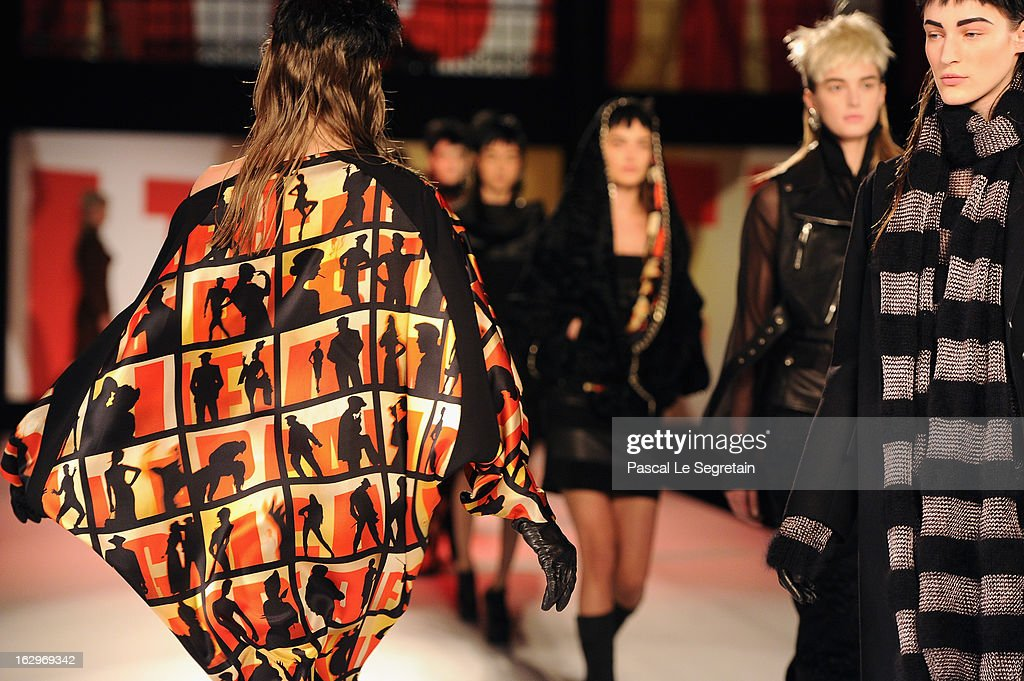 Models walk the runway during Jean Paul Gaultier Fall/Winter 2013 Ready-to-Wear show as part of Paris Fashion Week on March 2, 2013 in Paris, France.