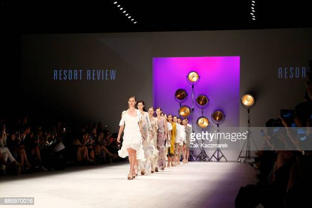Models walk the runway during MercedesBenz Fashion Week Weekend Edition at Carriageworks on May 20 2017 in Sydney Australia