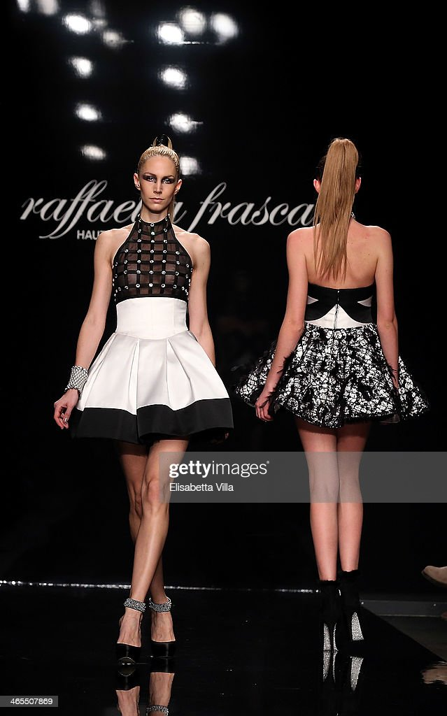 Models walk the runway during Raffaella Frasca S/S 2014 Italian Haute Couture colletion fashion show as part of AltaRoma AltaModa Fashion Week at Santo Spirito In Sassia on January 26, 2014 in Rome, Italy.