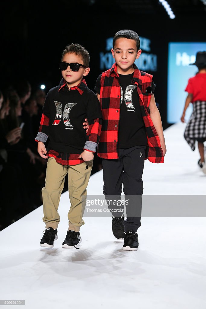 Models walk the runway during Rookie USA Presents Kids Rock! Fall 2016 at New York Fashion Week: The Shows at Skylight at Moynihan Station on February 11, 2016 in New York City.