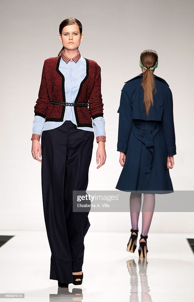 Models walk the runway during Suzanne Susceptible F/W 2013-14 preview colletion fashion show as part of AltaRoma AltaModa Fashion Week at Santo Spirito In Sassia on January 26, 2013 in Rome, Italy.