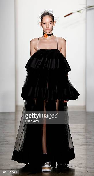 Models walk the runway during the Adam Selman Spring 2016 show during MADE Fashion Week at Milk Studios on September 10 2015 in New York City