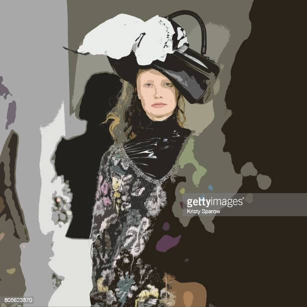 Models walk the runway during the AF Vandevorst Haute Couture Fall/Winter 20172018 show as part of Haute Couture Paris Fashion Week on July 2 2017 in...