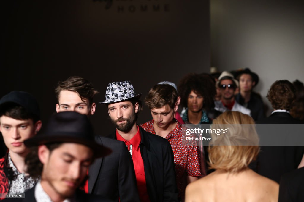 Models walk the runway during the Agnes B show as part of the Paris Fashion Week Menswear Spring/Summer 2015 on June 29, 2014 in Paris, France.