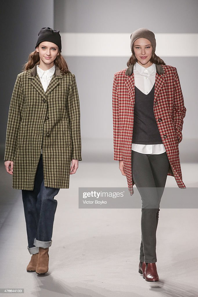 Models walk the runway during the Agnes B show as part of the Paris Fashion Week Womenswear Fall/Winter 2014-2015 on March 4, 2014 in Paris, France.