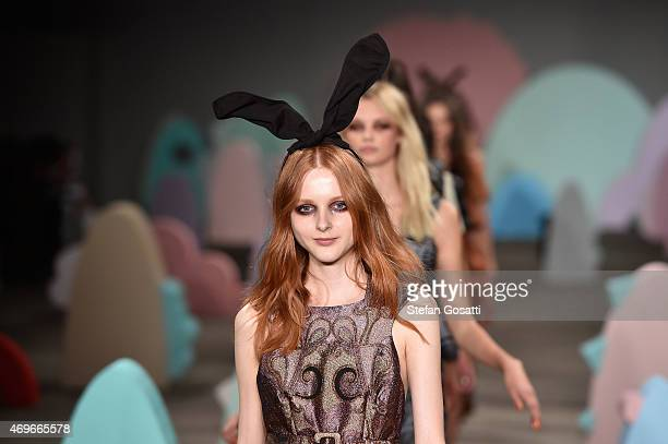 Models walk the runway during the Alice McCall show at MercedesBenz Fashion Week Australia 2015 at Bay 2224 Carriageworks on April 14 2015 in Sydney...