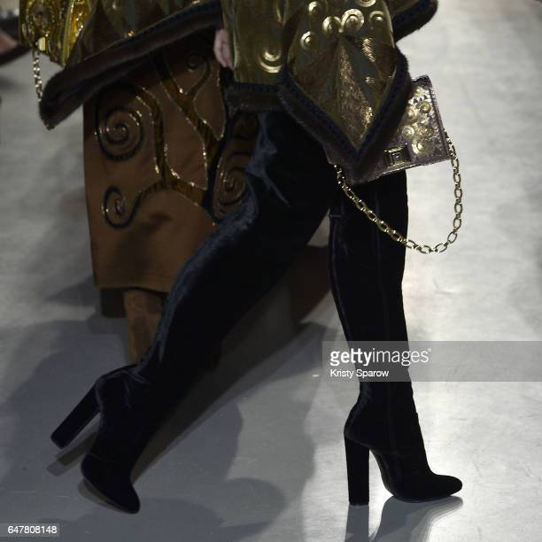 Models walk the runway during the Andrew GN show as part of Paris Fashion Week Womenswear Fall/Winter 2017/2018 on March 3 2017 in Paris France