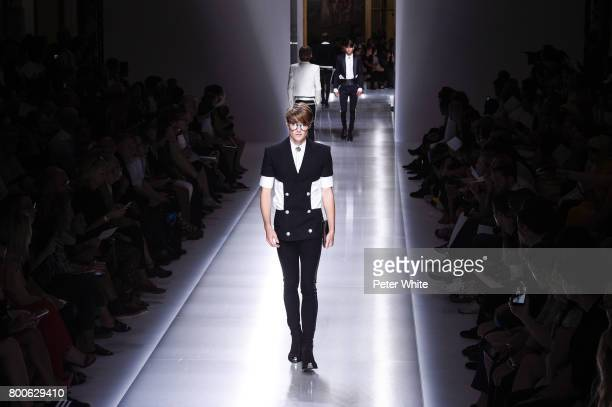 Models walk the runway during the Balmain Menswear Spring/Summer 2018 show as part of Paris Fashion Week on June 24 2017 in Paris France