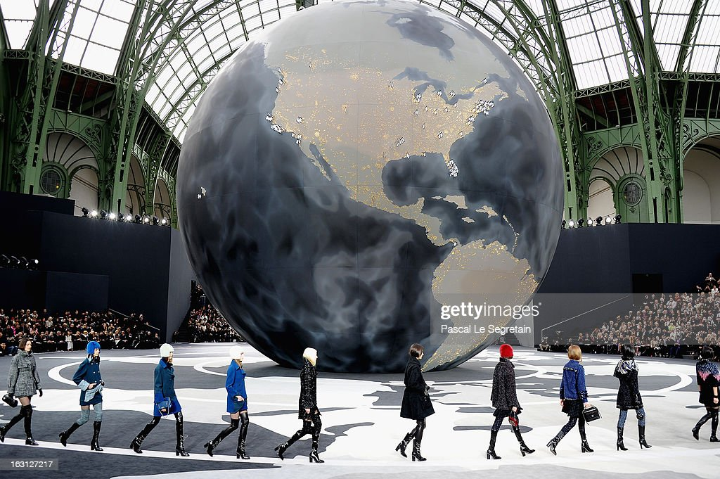 Models walk the runway during the Chanel Fall/Winter 2013 Ready-to-Wear show as part of Paris Fashion Week at Grand Palais on March 5, 2013 in Paris, France.
