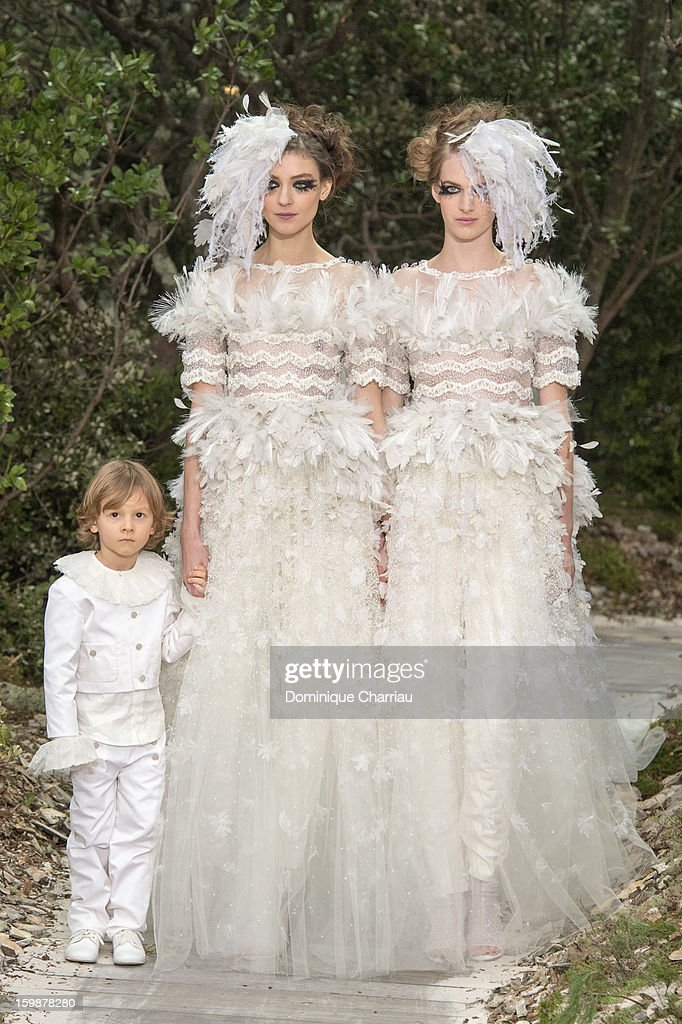 Models walk the runway during the Chanel Spring/Summer 2013 Haute-Couture show as part of Paris Fashion Week at Grand Palais on January 22, 2013 in Paris, France.